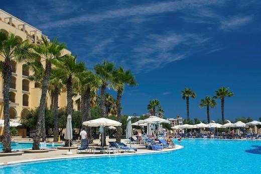 Hilton Hotel in St. Julians, Malta, Europe : Stock Photo