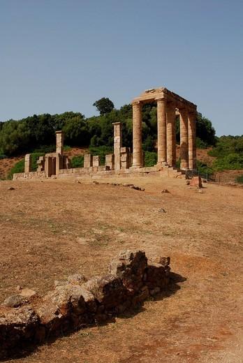 Temple of Antas, Fluminimaggiore, Sardinia, Italy : Stock Photo