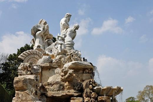 Neptune Fountain, Vienna, Austria, Europe : Stock Photo
