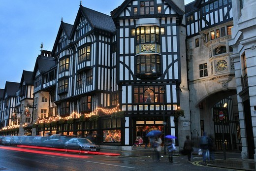 Liberty Department Store inside a Tudor style building, Regent Street / Oxford Circus, London, UK : Stock Photo