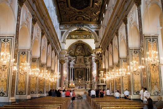 Stock Photo: 1848-237241 Inner ciew of the Amalfi Cathedral, Amalfi Coast, Campania, South Italy, Europe