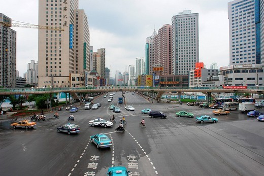 Stock Photo: 1848-237369 Traffic in Shanghai, Shanghai Shi, China, Asia