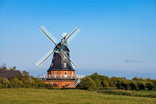 Stock Photo: 1848-237979 Mill in Borgsum, Foehr, North Frisia, Schleswig_Holstein, Germany