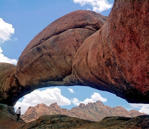 Stock Photo: 1848-239307 Rock arch, Pontok Mountains, Namibia, Africa