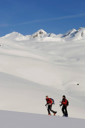 Stock Photo: 1848-239713 Ski wanderers on ski tour at Tristkopf, Kelchsau, Tyrol, Austria, Europe