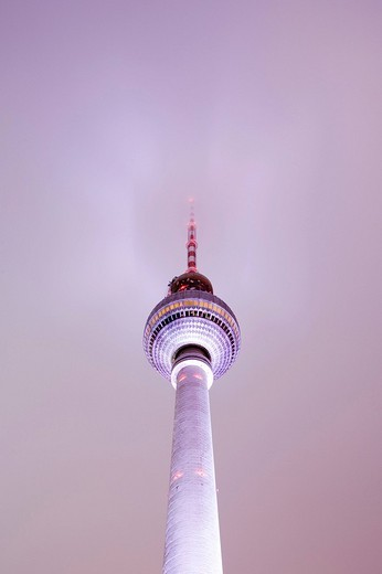 Stock Photo: 1848-240432 Television Tower, Festival of Lights 2009, Berlin, Germany, Europe