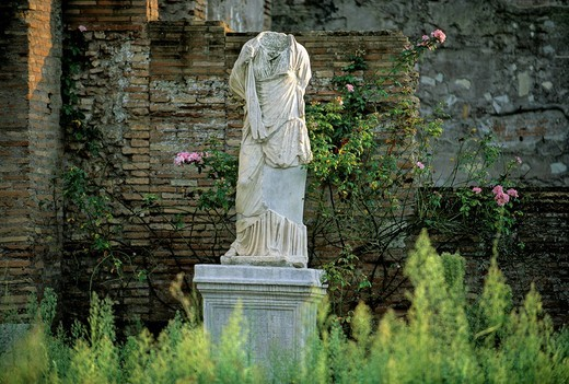 Stock Photo: 1848-242023 Marble statue, House of the Vestals, Roman Forum, Rome, Lazio, Italy, Europe
