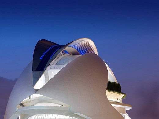 Opera house in the Ciutat de les Arts i de les Ciències, City of Arts and Sciences, Valencia, Spain, Europe : Stock Photo