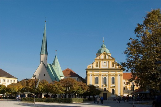 Stock Photo: 1848-242445 Pilgrimage church Magdalena, Place of pilgrimage Altoetting, Bavaria, Germany