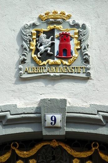 Stock Photo: 1848-24301 Coat of arms Albertus_Carolinen_Foundation Freiburg Breisgau Germany