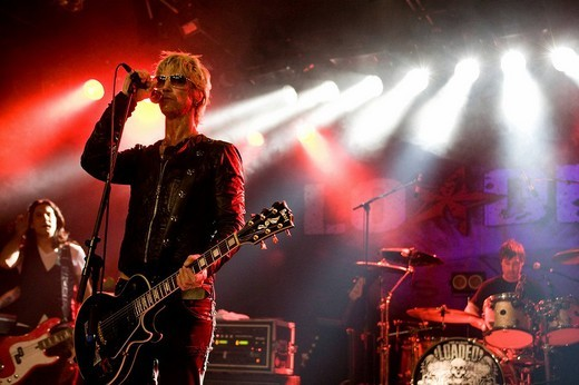 Stock Photo: 1848-244178 US musician Duff McKagan, former guitarist of Guns N ´Roses, live with his band Loaded in the Schueuer in Lucerne, Switzerland