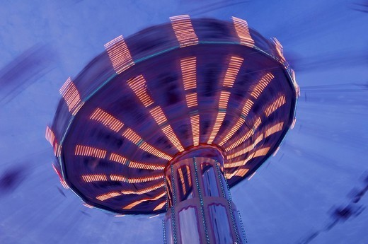 Stock Photo: 1848-24429 Swing carousel chair_o_plane at a fair in Stuttgart, Baden_Wuerttemberg, Germany, Europe