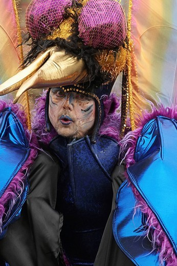 Stock Photo: 1848-244585 Artist at the Samba Carnival Bremen, Germany