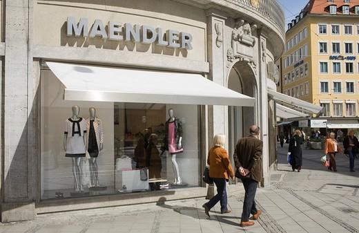 Maendler boutique, Munich, Bavaria, Germany : Stock Photo
