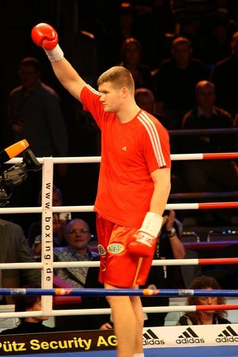 Stock Photo: 1848-245111 Boxer Alexander Dimitrenko prior to a heavyweight fight against Timo Hoffmann, Universum Champions Night, Magdeburg, Saxony_Anhalt, Germany, Europe