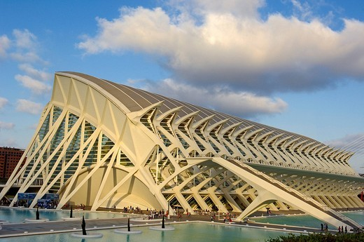 Stock Photo: 1848-246297 Príncipe Felipe Museum of Sciences, City of Arts and Sciences by S. Calatrava, Valencia, Comunidad Valenciana, Spain, Europe