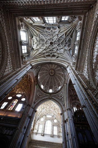 La Mezquita, mosque, Cordoba Cathedral, Cordoba, Andalusia, Spain, Europe : Stock Photo
