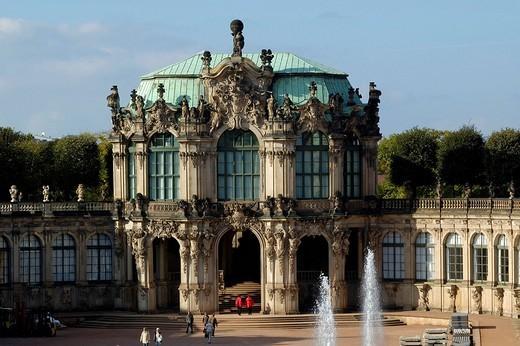 Stock Photo: 1848-246458 Zwinger Wallpavillon Dresden Saxony Germany