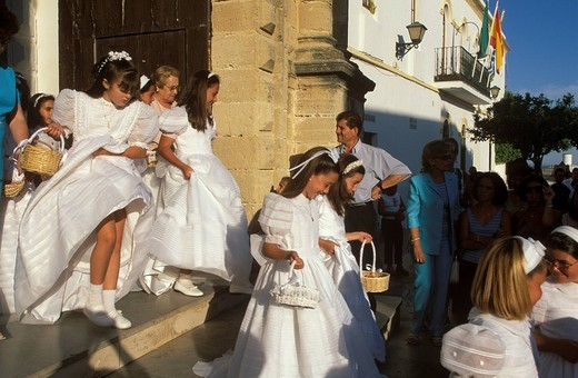 Corpus Christi feast, Conil de la Frontera, Costa de la Luz, Cádiz Province, Andalusia, Spain : Stock Photo