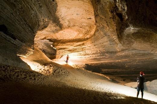 Caverna da Torrinha, a cave system in the Chapada Diamantina National Park, Bahia, Brazil, South America : Stock Photo