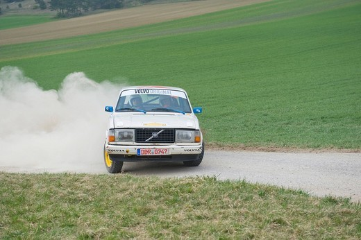 Volvo participating in the Triestingtal Rally, Lower Austria, Austria, Europe : Stock Photo