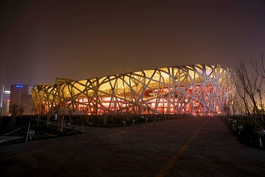 Olympic stadion, Peking, China, Asia : Stock Photo