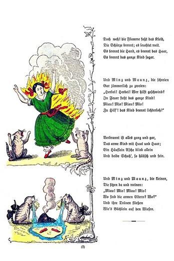 Stock Photo: 1848-247780 Book illustration, Die gar traurige Geschichte mit dem Feuerzeug, The Dreadful Story of Pauline and the Matches, Der Struwwelpeter, Shaggy Peter, Dr. Heinrich Hoffmann, 1876