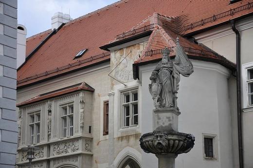 Statue, Monastery Klosterneuburg, Lower Austria, Austria : Stock Photo