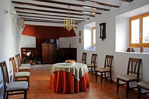 Interior, Convento Nuestra Senora del Carmen, monastery, hostel, hotel, Carmelitas Descazos, Carmelites, Caravaca de la Cruz, sacred city, Murcia, Spain, Europe : Stock Photo