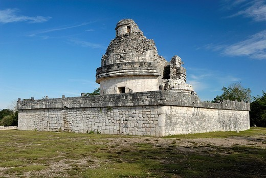 Stock Photo: 1848-250529 El Caracol, observatory, Maya and Toltek archeological site Chichen Itza, new worldwonder, Yucatan, Mexico