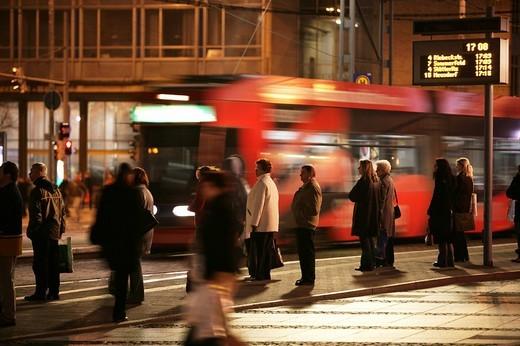 Stock Photo: 1848-250722 Tram stop station at Augustusplatz, Leipzig, Saxony, Germany