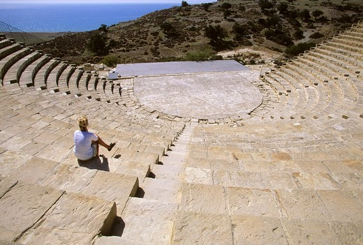 Stock Photo: 1848-251187 Greco_Roman amphitheatre in Kourion on the Akrotiri Peninsula, Cyprus