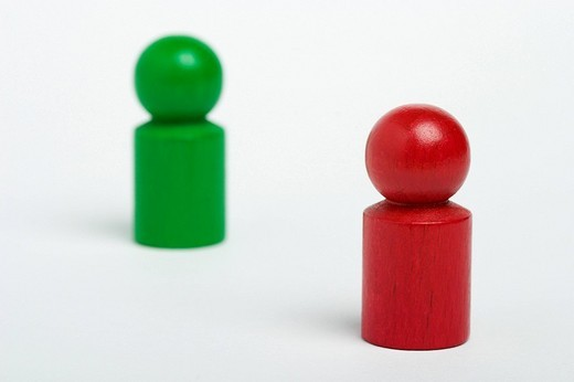 Wooden game figures : Stock Photo
