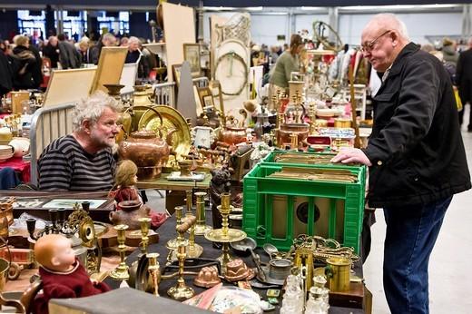 Stock Photo: 1848-251913 A stall at the flea market, Copenhagen, Denmark
