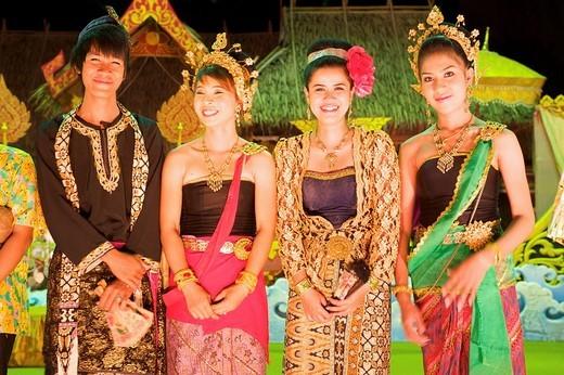 Dance show in Phuket Town, Phuket Island, Thailand, Asia : Stock Photo