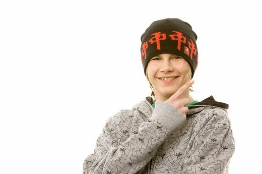 Stock Photo: 1848-253308 13_year_old boy wearing a cool outfit