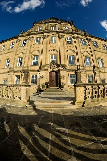Stock Photo: 1848-253455 Banz Abbey now known as Banz Castle, Bad Staffelstein, Upper Franconia, Bavaria, Germany, Europe