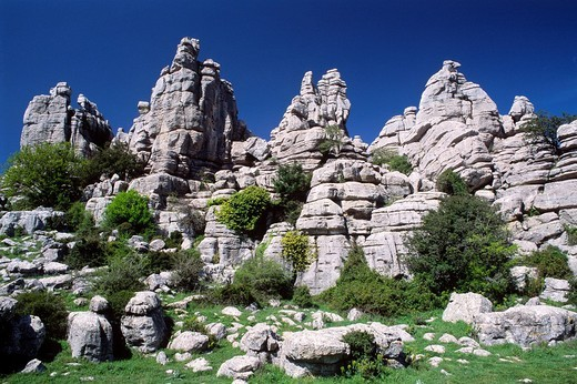 Torcal de Antequera Nature Park, Malaga province, Andalusia, Spain, Europe : Stock Photo