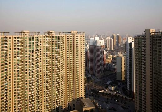 Apartment blocks, Shanghai, China, Asia : Stock Photo
