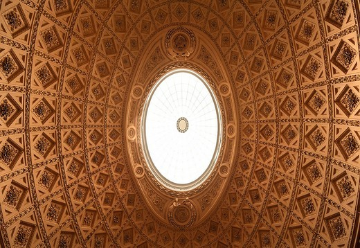 Stock Photo: 1848-254293 Decorative cupola, detail, in the reception hall of Stowe School, private school since 1923, architecture from 1770, Classicism, Stowe, Buckingham, Buckinghamshire, England, United Kingdom, Europe
