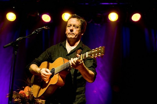 Stock Photo: 1848-25450 Kevin Barry Moore aka Luka Bloom, Irish singer and songwriter, performing live in the Schueuer concert house, Lucerne, Switzerland, Europe