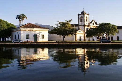 Stock Photo: 1848-254538 Santa Rita church, Paraty, Brazil