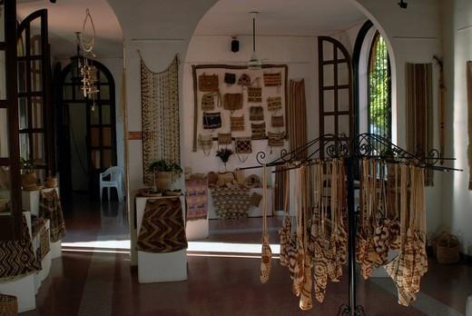 Exhibition of indigenous artisan handicrafts, Ciudad Formosa, Formosa Province, Argentina, South America : Stock Photo