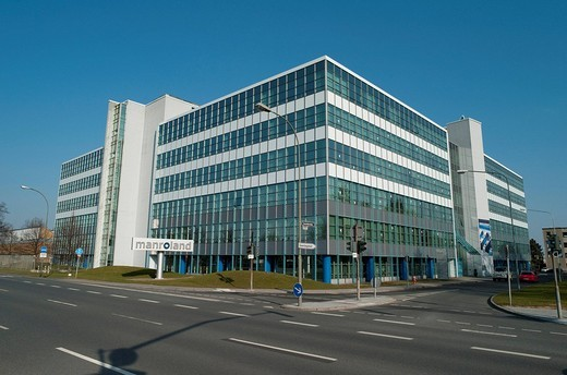 MAN Roland, manufacturer of printing systems, production facility in Offenbach, Senefelder Haus, Muehlheim, Hesse, Germany : Stock Photo