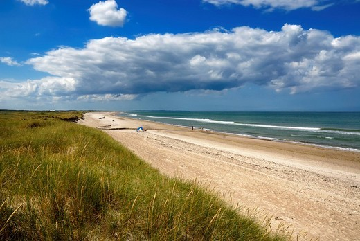 Stock Photo: 1848-256211 Wall dunes, natural beach and the North Sea, Kollerup beach, Jammer Bay, North West Jutland, Denmark, Europe