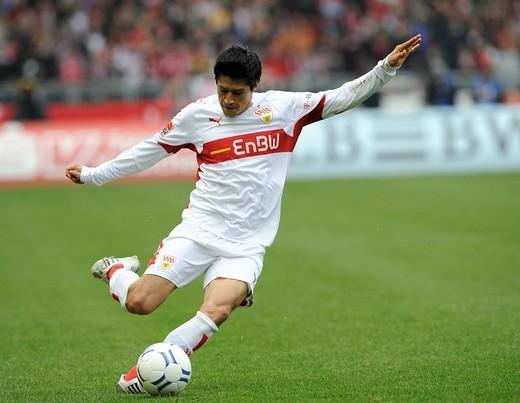 Pavel Pardo, VfB Stuttgart football club footballer : Stock Photo