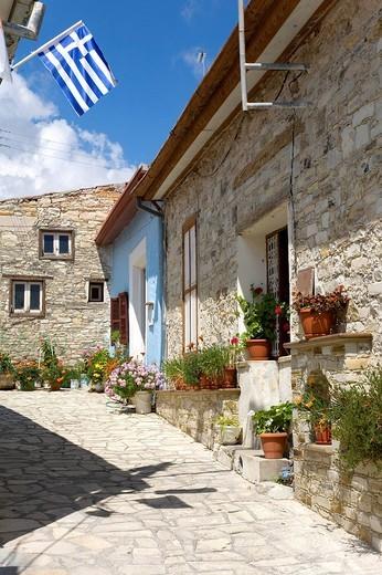 Stock Photo: 1848-25652 Typical alleyway, Lefkara, Cyprus, Greece, Europe