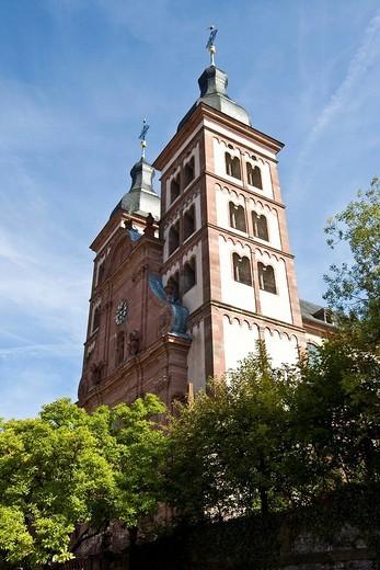 Stock Photo: 1848-256739 Baronial church, former abbey church, Amorbach, Hesse, Germany