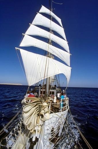 Stock Photo: 1848-256971 Three_mast sailing ship Amorina, Red Sea