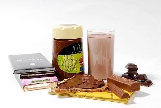 Stock Photo: 1848-257208 Various chocolate bar